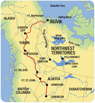 Dawson City Canada Map.Dempster Highway Nwt Canadian Historical Road Road Trip Canada