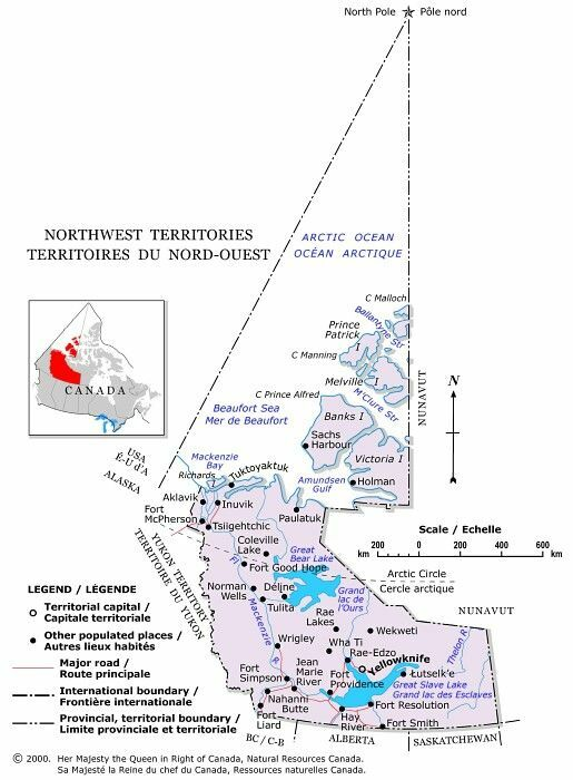 Northwest Territories Canada Map.Map Of Northwest Territories Northwest Territories Maps Map Of
